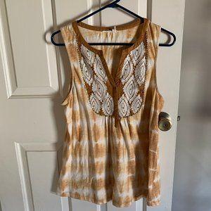 Anthropologie Tie Dye S/L top size M
